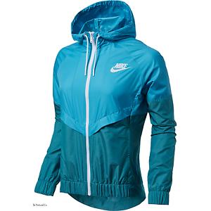9572cfeb174d Nike Sportswear Windrunner Women s Jacket XS S XL Blue Green Casual ...