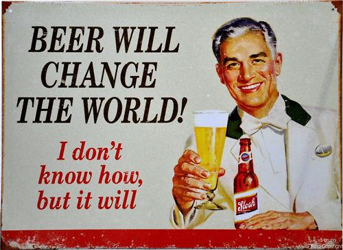 * Bier Biertrinker Vintage Beer Schild *051