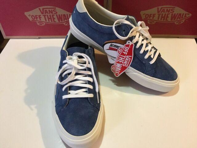 6e7502e45006 VANS Court DX Pig Suede Blue Obsidian and White Mens Shoe Size 8.5 for sale  online