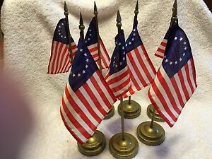 BETSY-ROSS-FLAGS-W-BASE-4-034-X6-034-FLAGS-11-1-2-034-TALL-QTY-7
