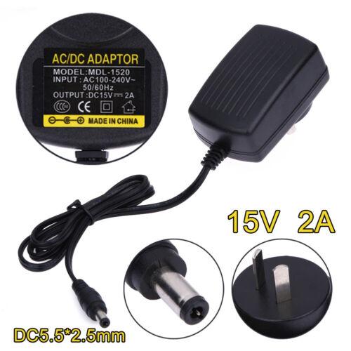 DC15V 2A Adapter AC 100V-240V to DC15V Converter Swicthing Power Supply Charger