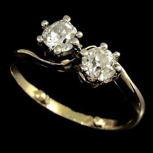 TOI-ET-MOI-Antique-18K-750-Yellow-Gold-amp-Platinum-Old-European-Cut-Diamond-Ring