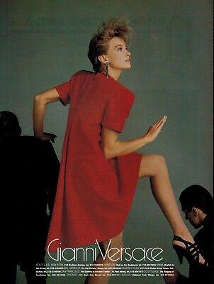 R ph AVEDON  Magazine  Print AD 1995 VERSACE  KRISTEN McMENAMY 2-pg