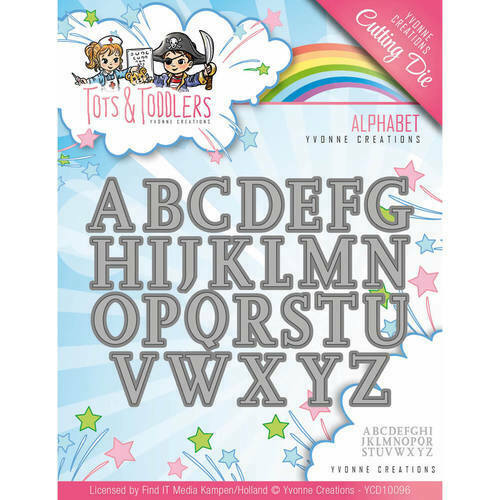 Tots and Toddlers Alphabet // Großbuchstaben YCD10096 Yvonne Creations