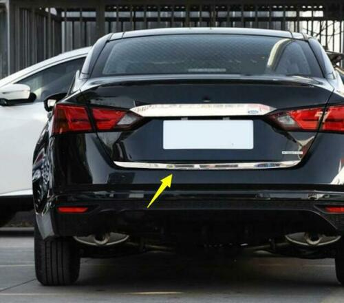 Chrome FIT FOR NEW Nissan Altima 2019 abs Rear Trunk Box Tail Gate Deocr Trim