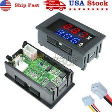 Dc 100v 10a Bluered Led Voltmeter Ammeter Dual Digital Volt Amp Meter Gauge