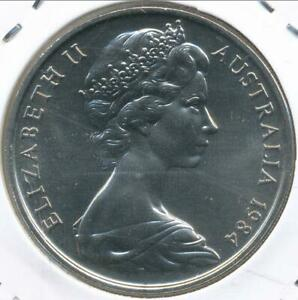 Australia-1984-Twenty-Cents-20c-Elizabeth-II-Gem-Uncirculated