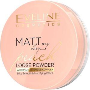 EVELINE MATT My Day brzoskwiniowy puder sypki/ Peach loose powder