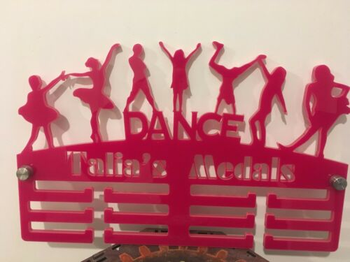 DANCE MIX MEDAGLIA Hanger Holder Display Rack personalizzati 3 Tier 5 COLORI mmacrylic