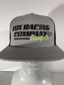 Fox Racing Pit Stop Snapback Hat Trucker Cap Motocross Gray BMX ...