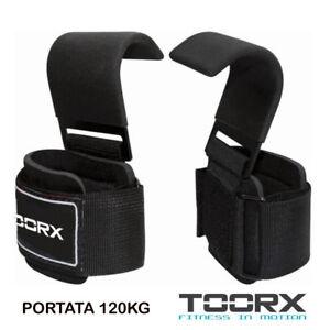 Toorx-Coppia-2-POLSIERE-Polsiera-GANCI-TRAZIONI-PALESTRA-METALLO-x-STACCHI-120kg