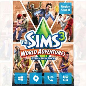 the sims 3 world adventures expansion pack dlc pc origin key global region free ebay