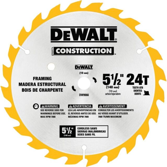 DEWALT Construction 5 1/2 24t Saw Blade Framing | eBay