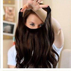 New body wave invisible wire wire halo hair extensions 100 remy image is loading new body wave invisible wire wire halo hair pmusecretfo Images