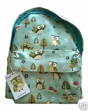 Sass and Belle Ladies Girls Backpack Rucksack Bag Skandi Owl Duck Egg Blue