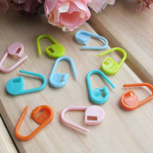 Colorful Amazing Knit Crochet Locking Stitch Needle Clip Marker Holder Tools US