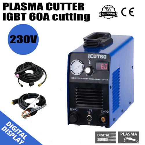 IGBT Air Plasma Cutter Machine AG60 Torch 60A 18mm Max Cut 230v In UK Household