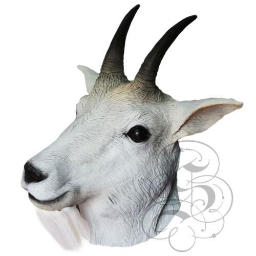 Latex Ganzer Kopf Tier Berg Ziege Berühmt Kostüm Karneval Party Masken