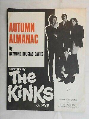 Kinks Single Sheet Music Piano Vocal