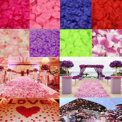 100pcs Simulation Rose Flowers Petals Wedding Party Supplies Confetti Decoration