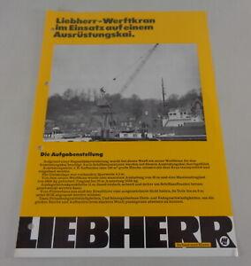 Brochure Liebherr Werftkran IN Insert On One Ausrüstungskai From 05/1975