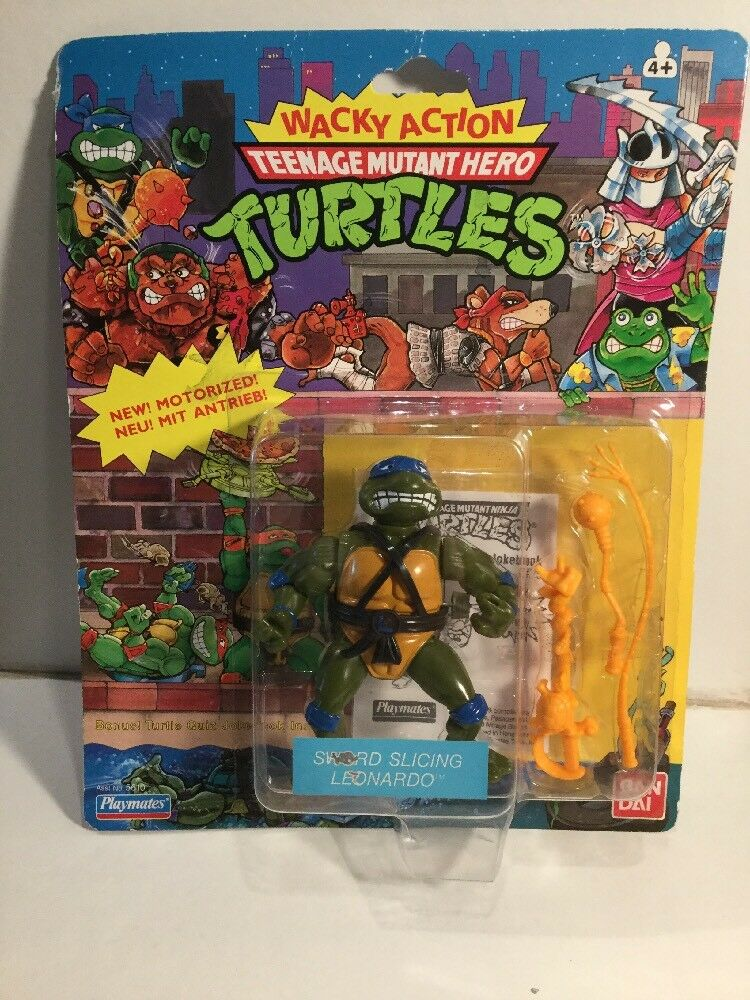 1980's Wacky Action Teenage Mutant Ninja   Hero Turtles Leonardo 20 Back Card