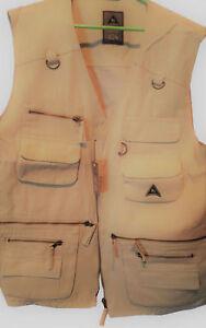 Angel-Weste-Angler-Jaeger-Army-Weste-US-Ranger-Jagd-Outdoor-Wandern-beige-XXL-2XL