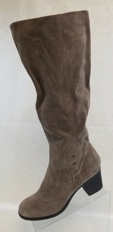 Nine West Vintage America Knee High Boots OnMyMind Womens Beige Leather Sz 9.5M