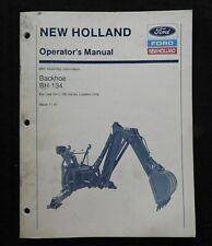 Ford L 780 Skid Steer Loader Bh 134 Backhoe Operators Manual