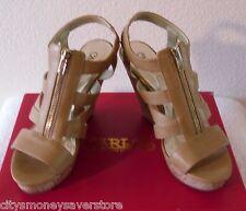 NIB Carlos by Carlos Santana Kaila Womens Wedge Sandals 10 Natural MSRP