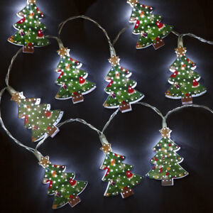 Image Is Loading Box Of 10 Metal Christmas Tree Battery Del
