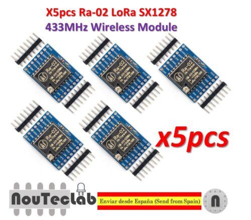5pcs SX1278 LoRa 433MHz Ra-02 Wireless Spread Spectrum Transmission Socket Ra02