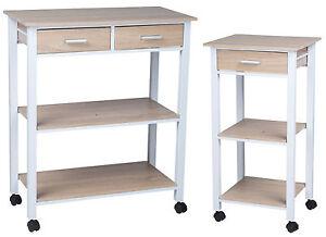 k chenwagen wei metall eiche holz k chentrolley schublade k chenschrank neu ebay. Black Bedroom Furniture Sets. Home Design Ideas