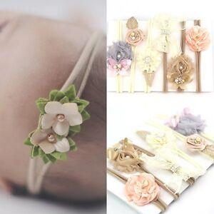 3-Stk-Neugeboren-Stirnband-Baby-Maedchen-Haarschmuck-Schleife-Haarband-Kopfband