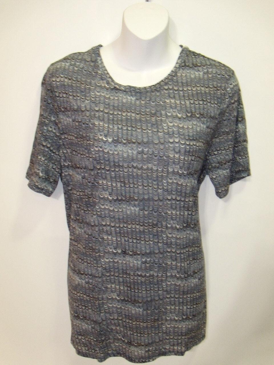 NWT Tory Burch Marble Printed Cotton Crewneck Tee Shirt Medium NEW Top