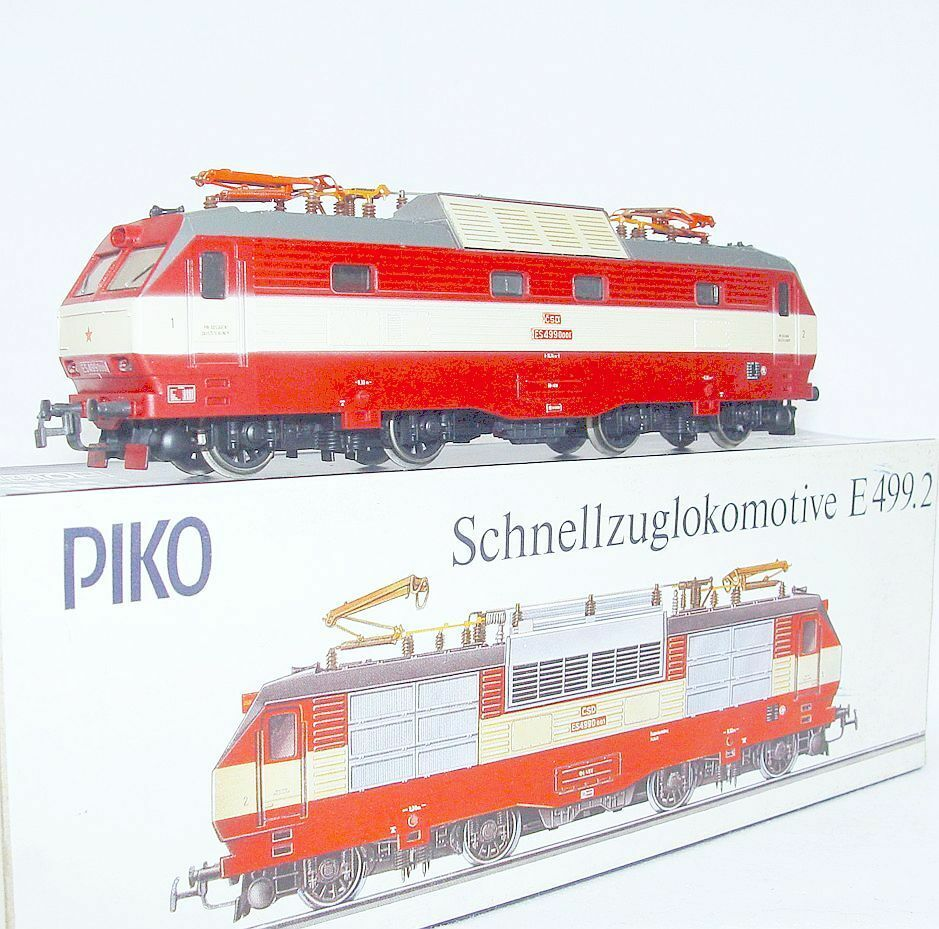 Piko HO 1:87 Czechoslovakian CSD BR ES499 Medium ELECTRIC LOCOMOTIVE rosso MIB`80
