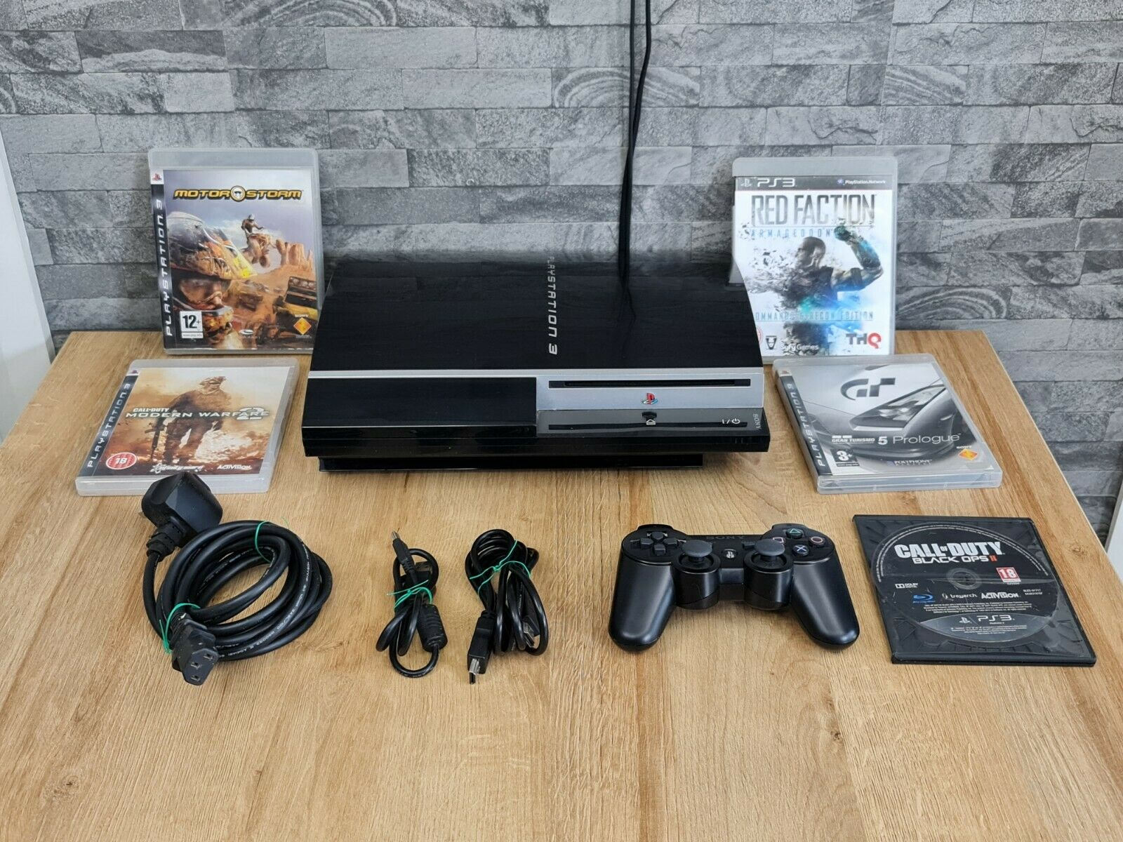Sony Playstation 3 PS3 80GB Console & Games Bundle