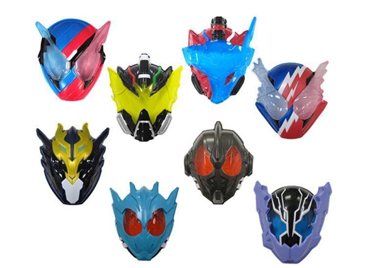 KAMEN RIDER BUILD Plastic Mask 8pcs set giocattolo, Party  Cosplay nuovo  seleziona tra le nuove marche come