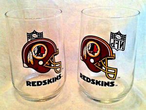 cd235161 Details about Set of 2 NFL WASHINGTON REDSKINS Glass 16 oz Cup Tumbler  Football Helmet Logo
