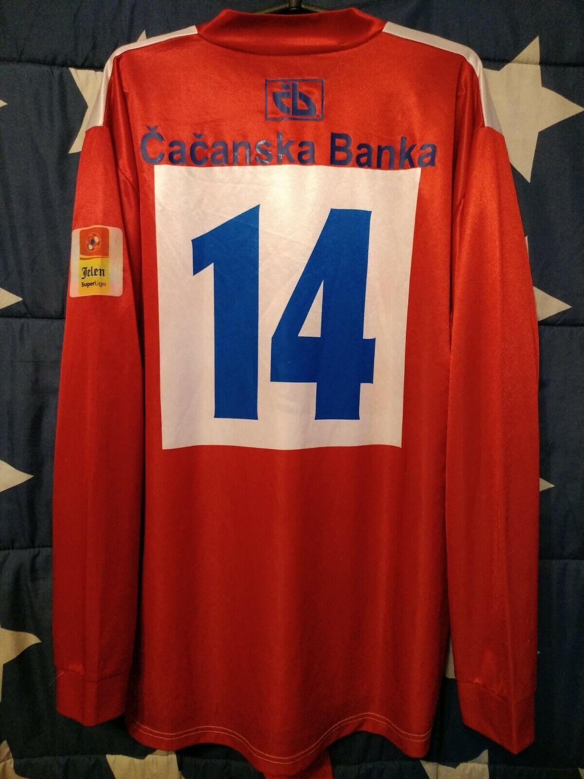 FK Borac Cacak (Serbia) Match Issue Home Football Long Sleeve Shirt Jersey