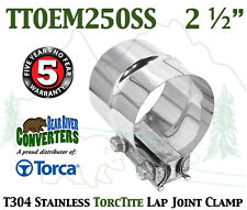 "TTOEM250SS 2.5"" 2 1/2"" Torca Torctite Stainless Steel Lap Joint Band Clamp"