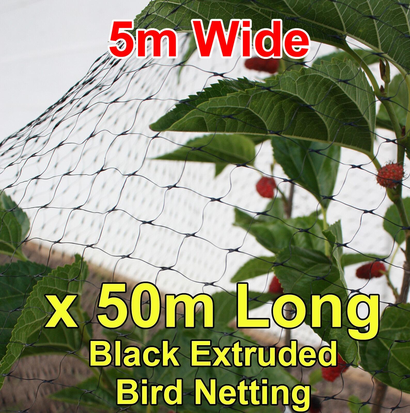 Negro Anti Aves Malla 50mtr Largo X 5m de ancho de las frutas trees crops