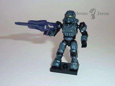 Ultra Rare Halo Mega Bloks Series 8 UNSC Stealth Spartan Soldier w Storm Rifle