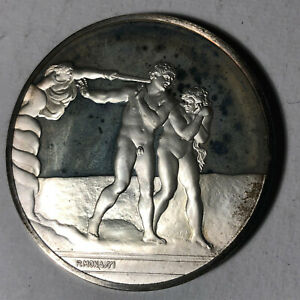 The-Expulsion-The-Genius-of-Michelangelo-1-26oz-Sterling-Silver-Medal