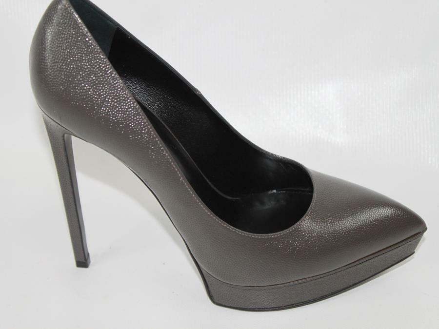 AUTH YSL Yves Saint Laurent Donna Leather High Heel Pumps 39.5