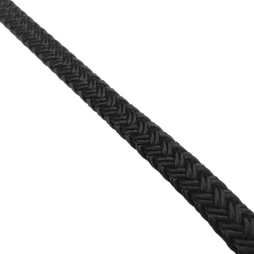 14mm Pre-Spliced Polyester Braided Docklines Mooring Ropes Black 1 x 10 Metres