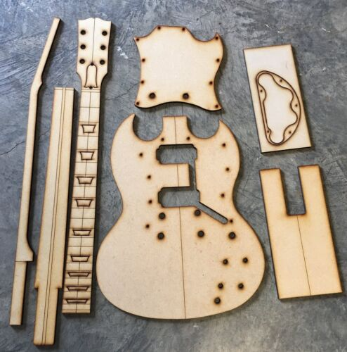 Guitar Building Templates SG Standard Luthier Template