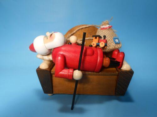 Räuchermann Smoker Räucherfigur Weihnachtsmann auf dem Sofa schlafend aus Holz