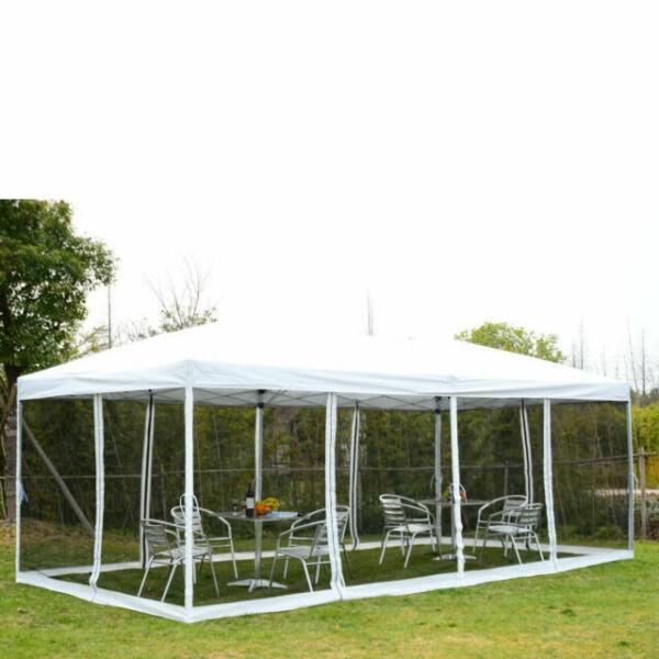 Wedding With White Tent: 10x20 EZ Pop Up Party Wedding Tent Patio Gazebo Canopy
