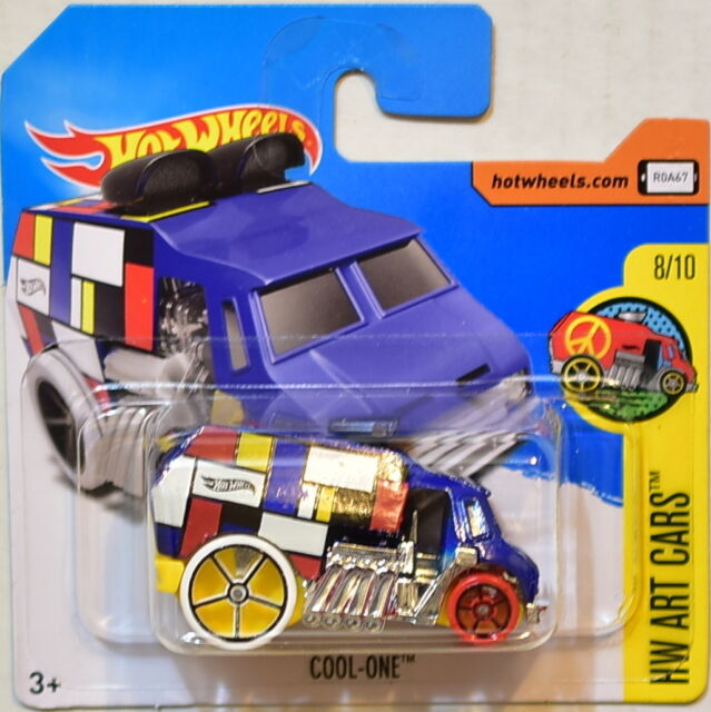 Hot Wheels 2017 Hw Arte Cars Cool-One #8/10 Blue Corta Tarjeta